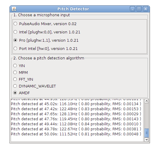 Pitch Detector in Java