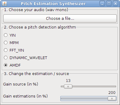 Pitch estimation synthesizer