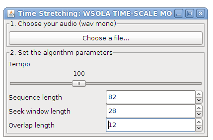 Time Stretching (WSOLA) in Java