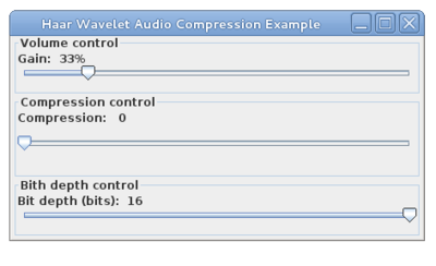 Haar Wavelet Audio Compression