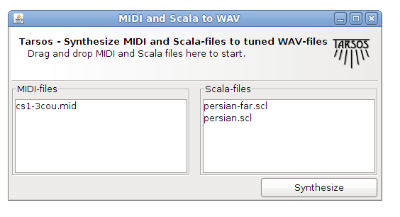 Midi to WAV screen shot